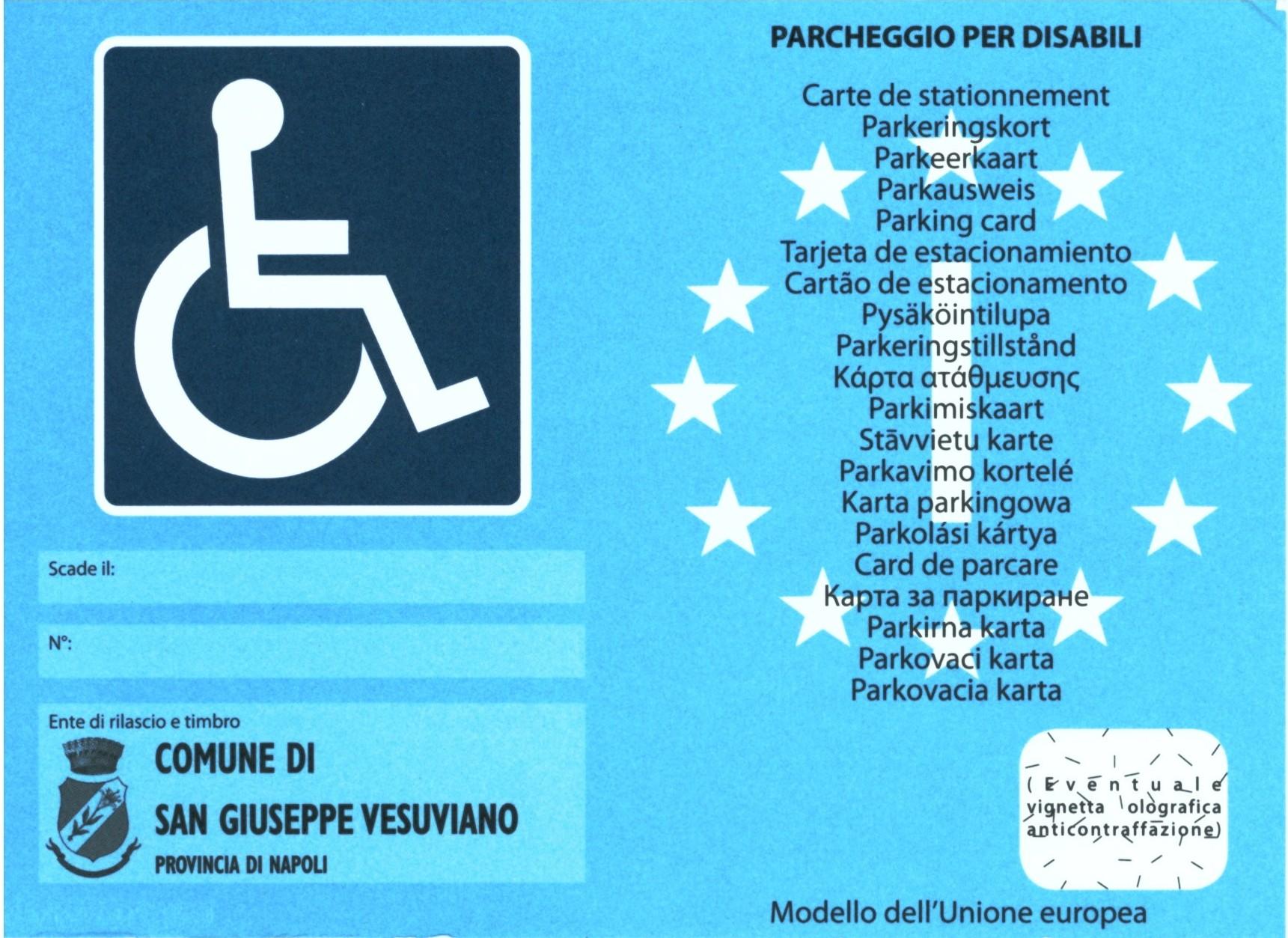 Permesso per disabili